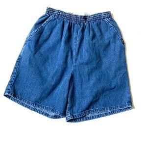 Vintage high waisted denim shorts 8 CHIC dark wash